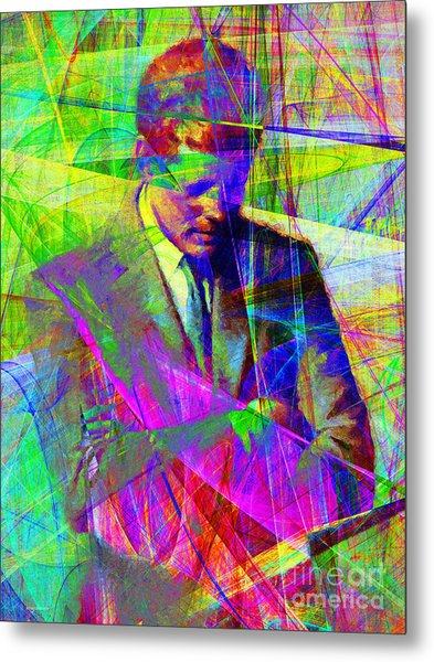 John Fitzgerald Kennedy Jfk In Abstract 20130610v2 Metal Print