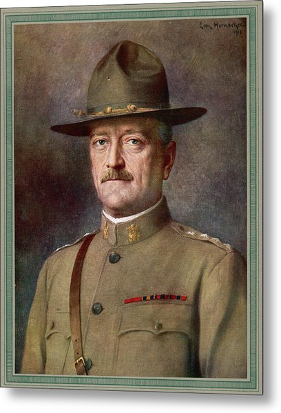 John Joseph Pershing    Nicknamed Black Metal Print by Mary Evans Picture Library