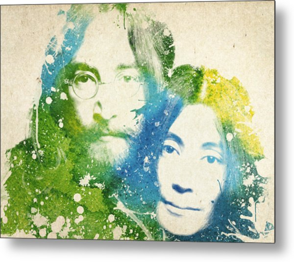 John Lennon And Yoko Ono Metal Print