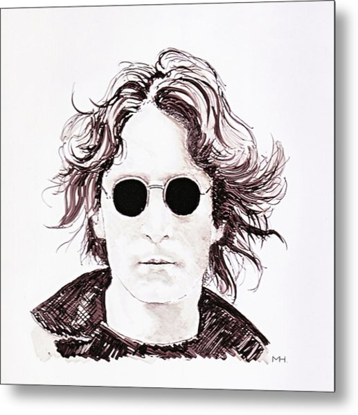 John Lennon Metal Print by Martin Howard