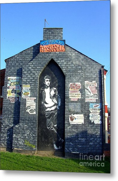 John Lennon Mural Liverpool Uk Metal Print