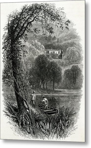 John Ruskin Home Of The English Art Metal Print by Mary Evans Picture Library