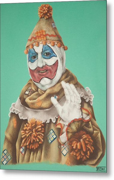 John Wayne Gacy As Pogo The Clown Metal Print