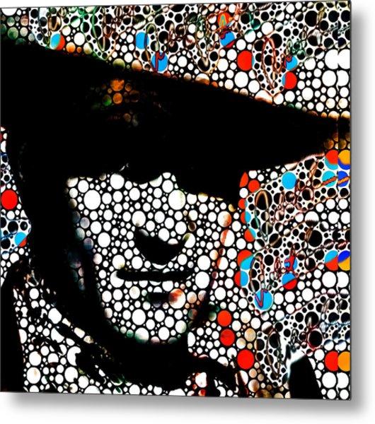 John Wayne Poster Prints Abstract Cowboy  Metal Print