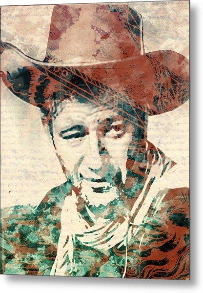 John Wayne Unmasked Metal Print