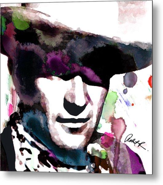 John Wayne Water Color Pop Art By Robert R Metal Print