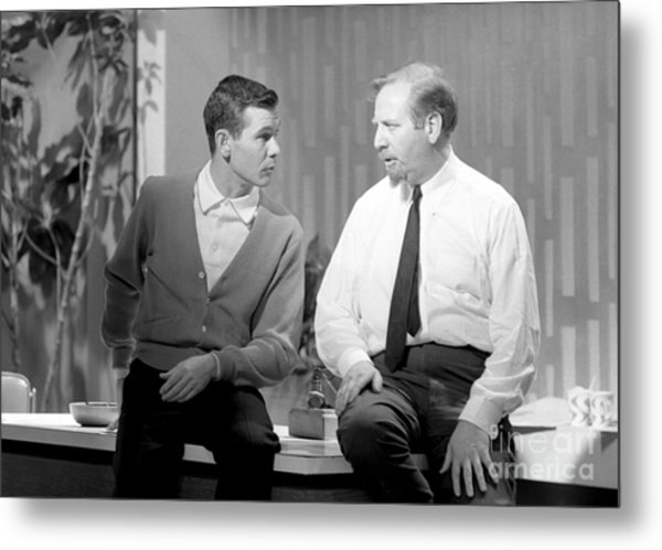 Johnny Carson With Skitch Henderson Metal Print