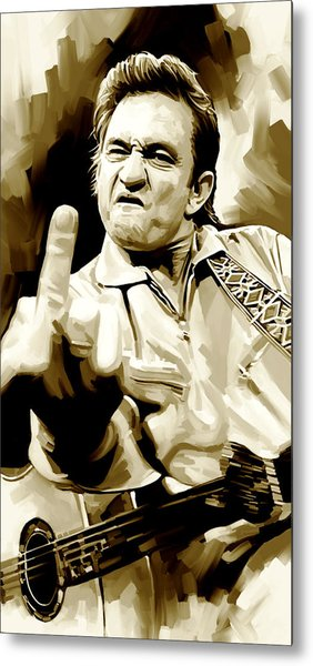 Johnny Cash Artwork 2 Metal Print