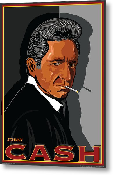 Johnny Cash American Country Music Icon Metal Print