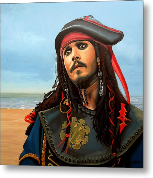 Johnny Depp As Jack Sparrow Metal Print