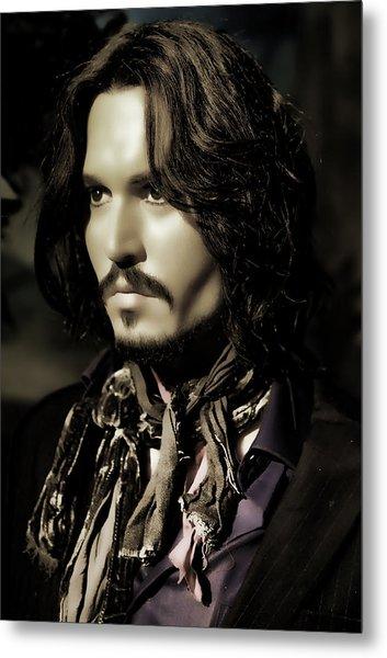 Johnny Depp Metal Print by Lee Dos Santos