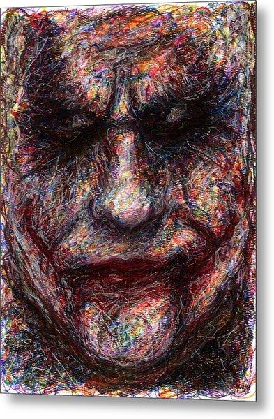 Joker - Face I Metal Print