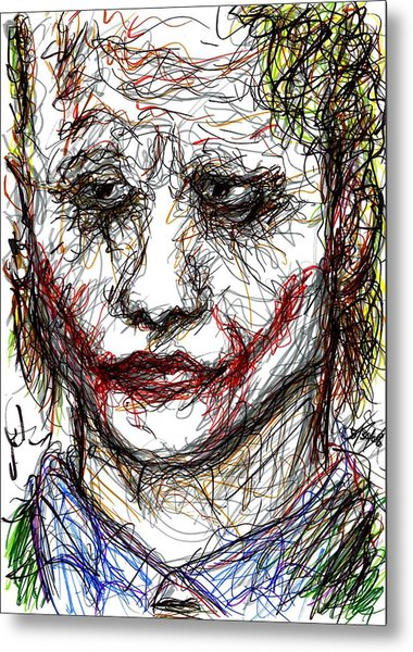Joker - Interrogation Metal Print