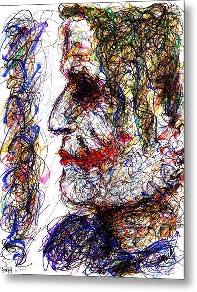 Joker - Profile Metal Print