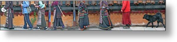 Jokhang Pilgrims Metal Print