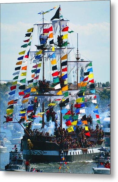 Jose Gasparilla Ship Work B Metal Print