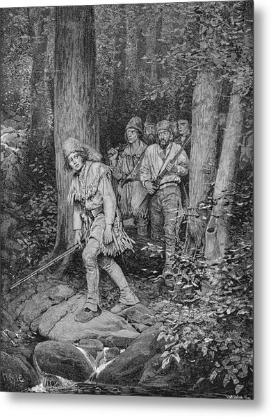 Joseph Brown Leading His Company To Nicojack, The Stronghold Of The Chickamaugas, Engraved Metal Print