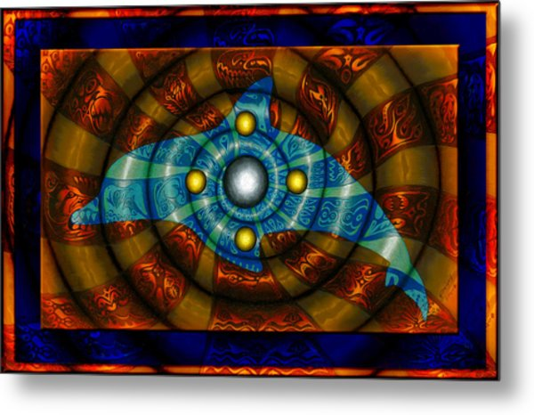 Journey To The Center II Metal Print