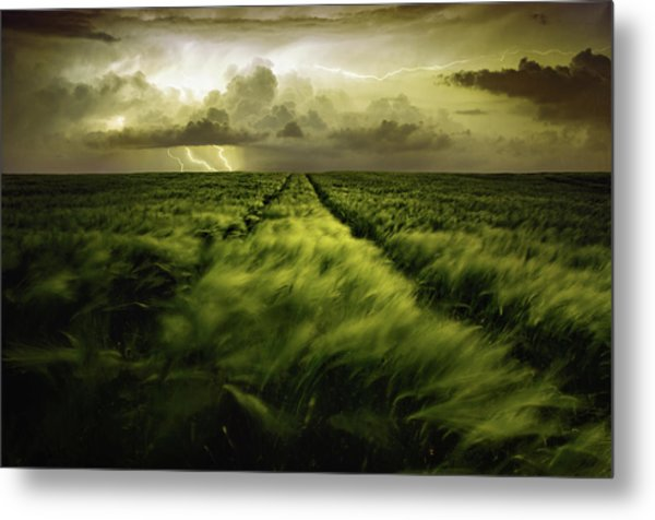 Journey To The Fierce Storm Metal Print