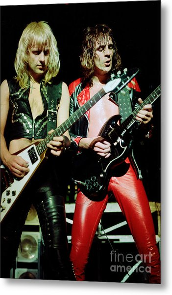 Judas Priest At The Warfield Theater During British Steel Tour Metal Print