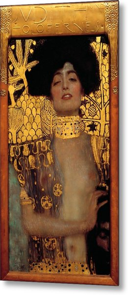 Metal Print featuring the painting Judith And The Head Of Holofernes by Gustav Klimt