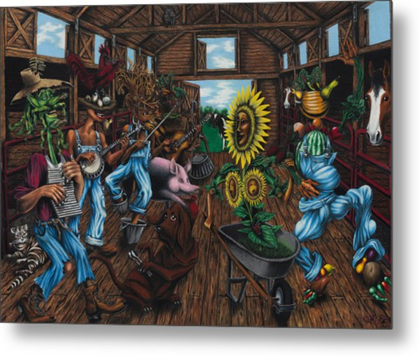 Jug Band  Metal Print by Ned Shuchter