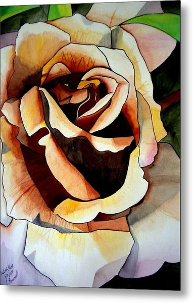 Julia's Rose Metal Print by Sacha Grossel