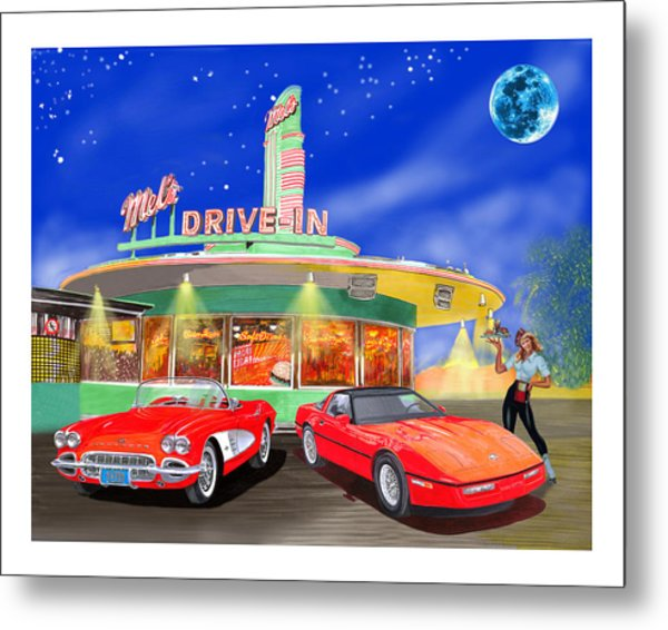 Julies Corvettes Metal Print