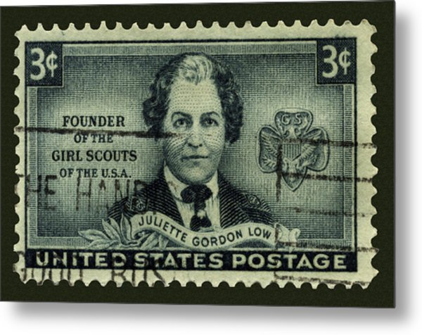 Girl Scouts Founder Juliette Gordon Low Postage Stamp Metal Print
