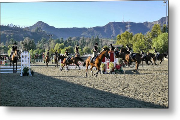 Jumper Competition Time Lapse Metal Print by Kevin Garrett