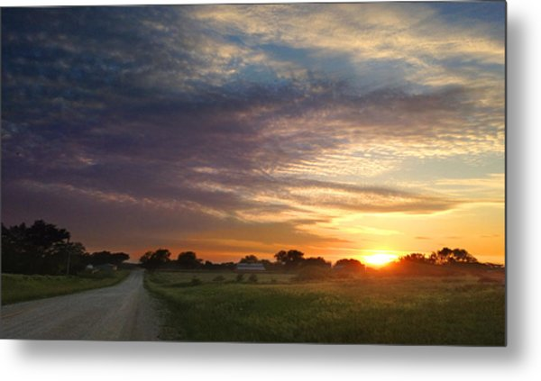 June Sky Osage County Metal Print