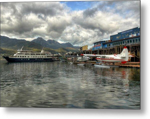 Juneau's Hangar On The Wharf Metal Print