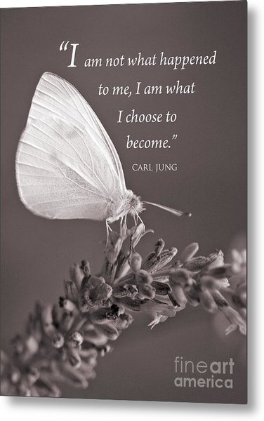 Jung Quotation And Butterfly Metal Print