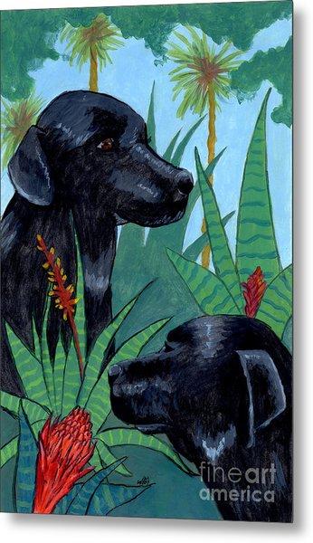 Jungle Dogs Metal Print