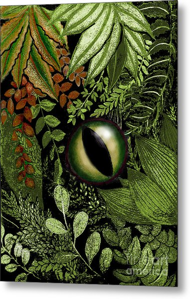 Jungle Eye Metal Print