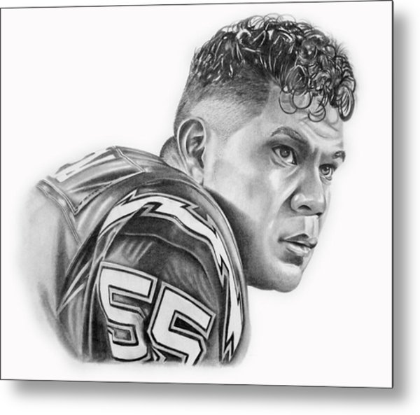 Junior Seau Metal Print by Don Medina