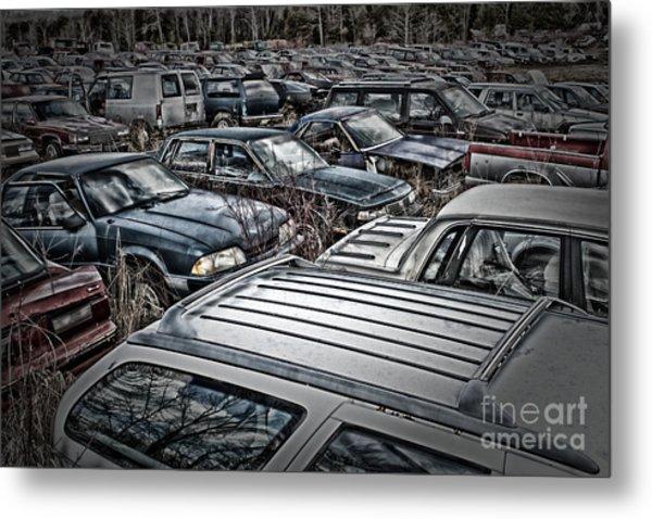 Junk Yard Metal Print