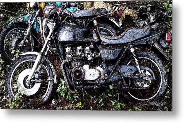 Junkyard Kawasaki Kz650 Metal Print