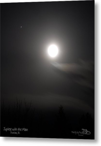 Jupiter With The Moon Metal Print