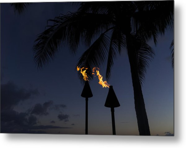 Just After Sunset The Beach Party Is Starting Metal Print