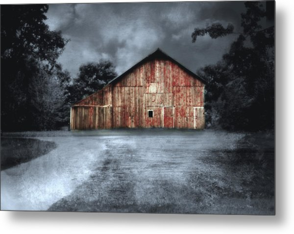 Night Time Barn Metal Print