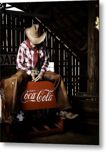 Just Another Coca-cola Cowboy 3 Metal Print