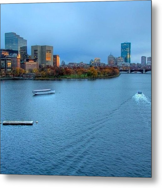 Just Before The Blue Hour....boston Ma Metal Print