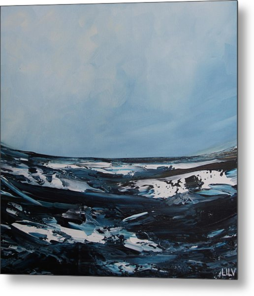 Just Blue Metal Print by Lilu Lilu