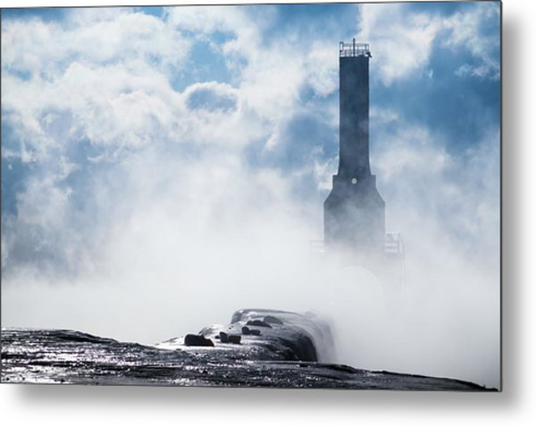 Just Cold And Disappear Metal Print