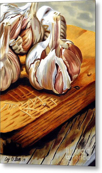 Just Garlic Metal Print
