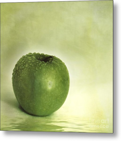 Just Green Metal Print