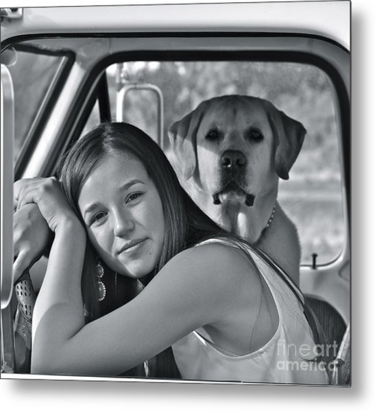 Just Me And My Dog Metal Print