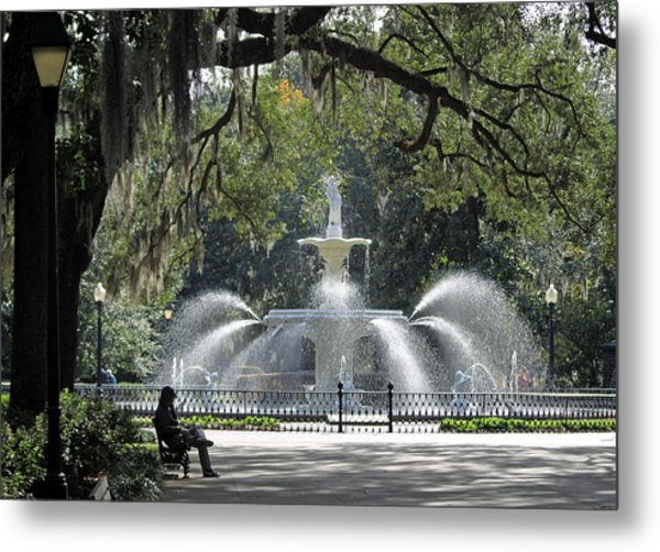 Just Relaxing In Savannah Metal Print