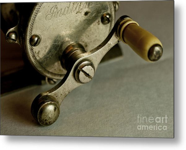 Just Ride Out And Fish Metal Print